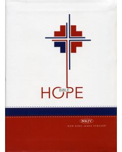 Hope Bible - English (NKJV) White/Red Bonded